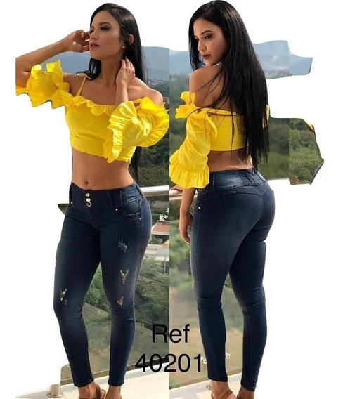 Jeans Pantalon De Dama Studio Moda Colombiana