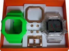 Relógio Champion Yot Original Cp40180x Verde Transparente