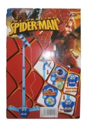 Microfono Ajustable De Spiderman.