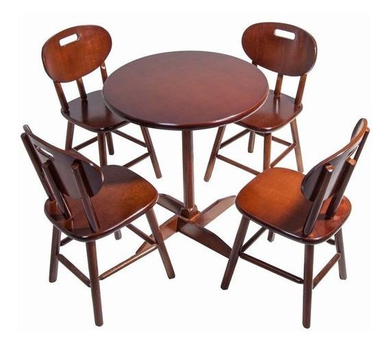 Mesa Com 4 Cadeiras Madeira Bar Restaurante
