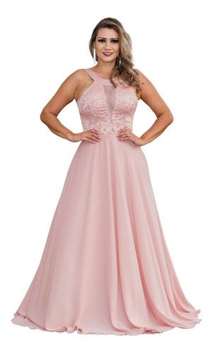 Imagem 1 de 6 de Vestido De Festa Longo Rose - Madrinha, Casamento Lindo