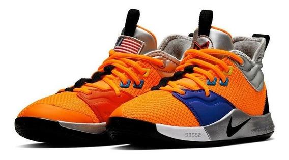 Tenis Niños Nike Pg 3 ** Nasa ** #8973800 Importaciones Mexicali