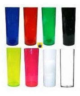 100 Copos Long Drink 350ml Acrílico - Max.4kit. Por Compra!