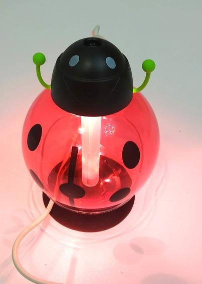 Humidificador Difusor De Aceites Esenciales Escarabajo Rojo