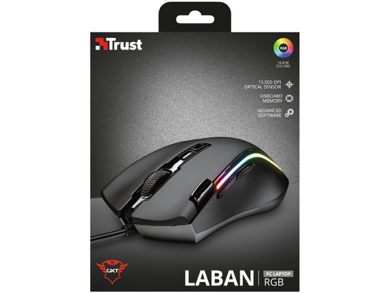Mouse Gamer Trust Gxt 188 Laban Rgb 15.000 Dpi