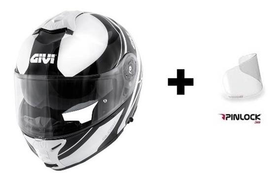 Capacete Givi X21 Globe Branco/preto + Pinlock 12x S/ Juros