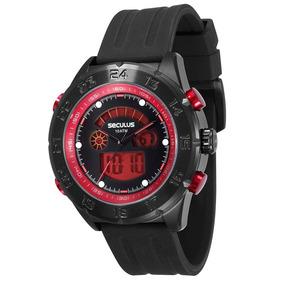 Relógio Masculino Analógico Seculus 20220gpsvpu1 Preto