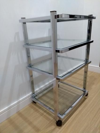 Rack Gradiente Cromado Com Vidros