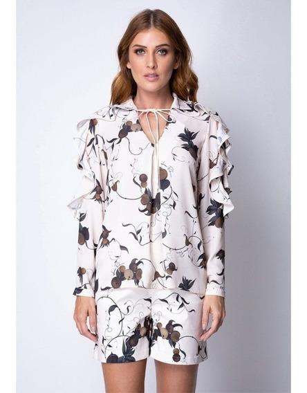 Camisa Com Babados Floral Lança Perfume 502ca000379