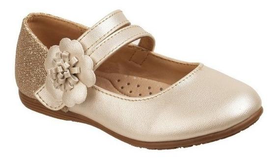 Zapato Jakuna Tipo Balerina Color Palomitas Dorado 19825**