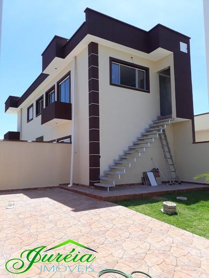 Casa Nova Com 2 Dormitórios, Sendo 1 Suíte A 2500 M Da Praia