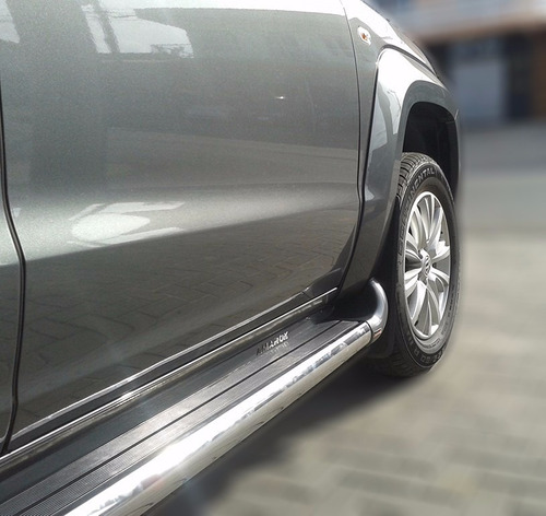Imagem 1 de 6 de Estribo Plataforma Personalizado Cinza Iron Amarok 2010 2019