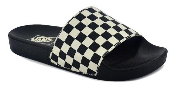 Chinela Vans Hombre Slide On Negro/blanco