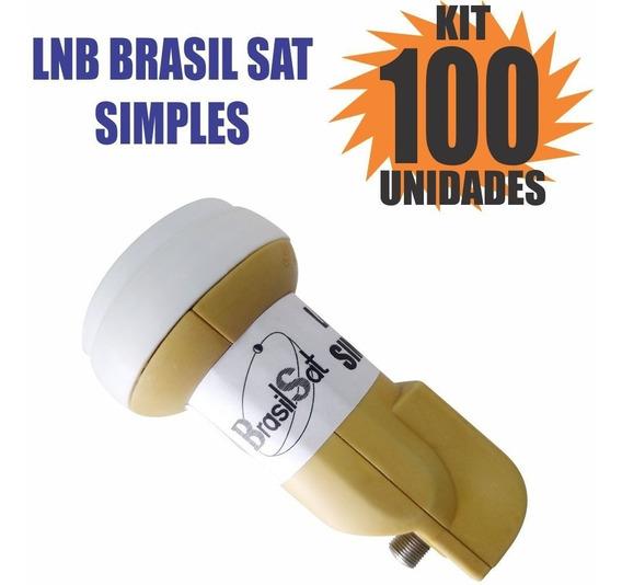 Kit 100 Peças Lnbf Ku Simples Universal Lnb Semi Novo
