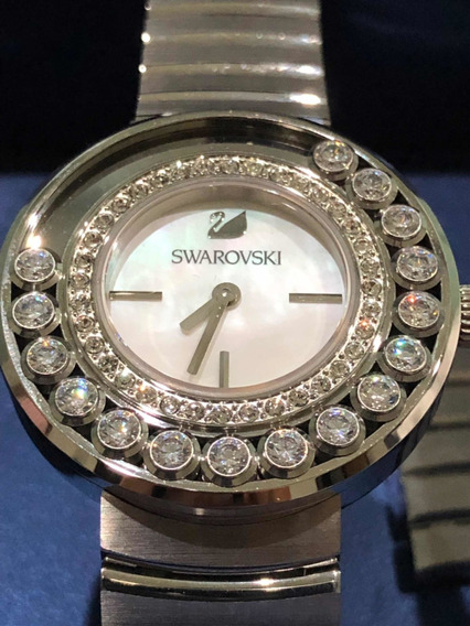 Relógio Feminino Swarovski Original 1160307 Cristais Prata