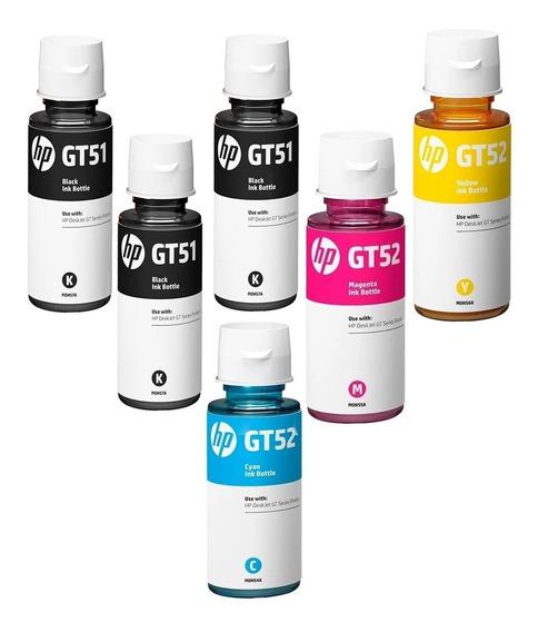 Kit 6 Refil De Tinta Hp Gt51 Gt52 Original Hp Novo Lacrado!