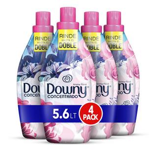 Suavizante Downy Floral 5.6lt, 4 Unidades De 1.4lt