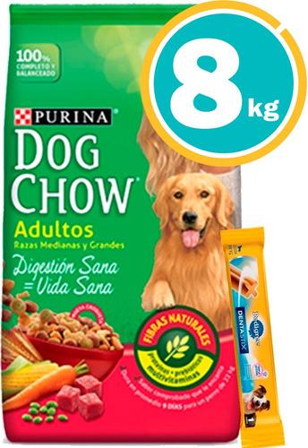 Dog Chow Adultos 8 Kg + Dentastix Y Envío S/cargo*