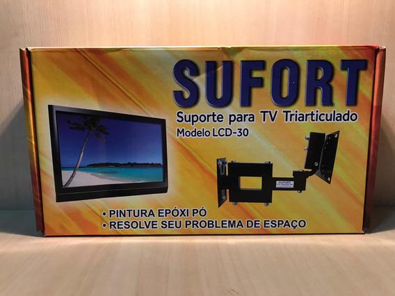 Suporte Tv Triarticulado Sufort Lcd-30 Até 25kg E 50