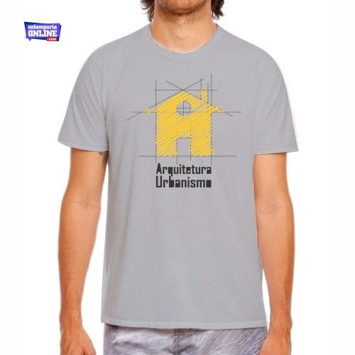 Camiseta Estampada Do Curso De Arquitetura E Urbanismo