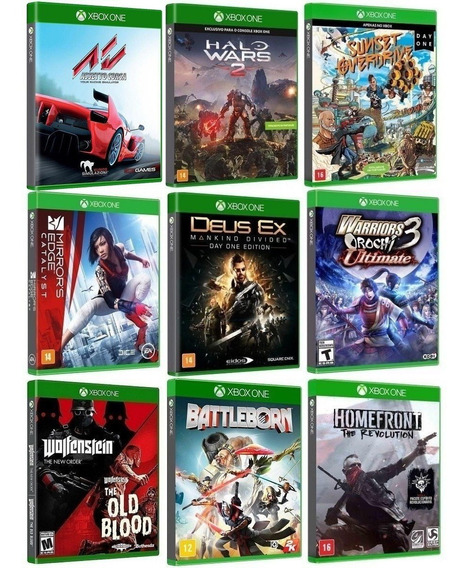 Kit 10 Jogos Para Xbox One - Midia Fisica Original Lacrado
