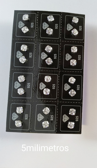 Brincos Atacado Solta Com Pedra 5mm Em Prata 925 Diamante