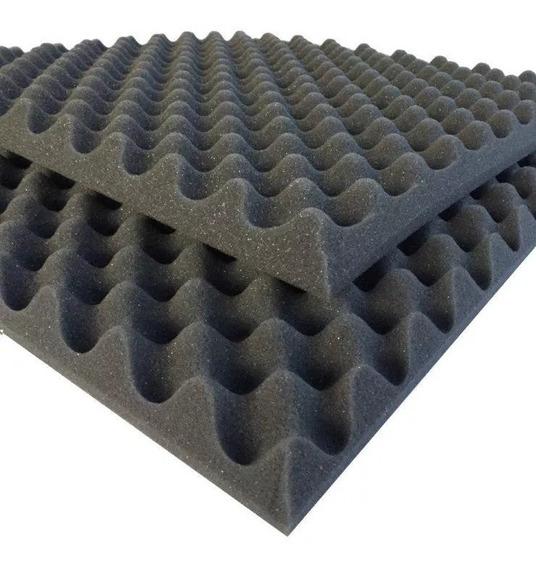 Espuma Acústica Kit C/ 8 Placas 50cmx50cmx3,5cm