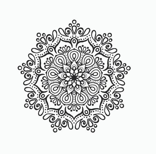 Mandalas Vinilo Decorativo 60 Cm Stickers. Color A Elección