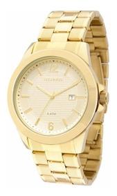 Relógio Technos Dourado Classic Steel 2115knp/4x