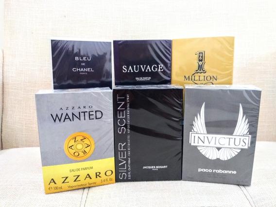 Frete Gratis Kit 14 Perfumes Contratipo 100ml+amostra Gratis