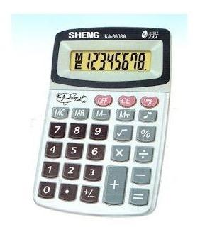 Lote Com 10 Calculadoras 8 Dígitos Sheng Atacado