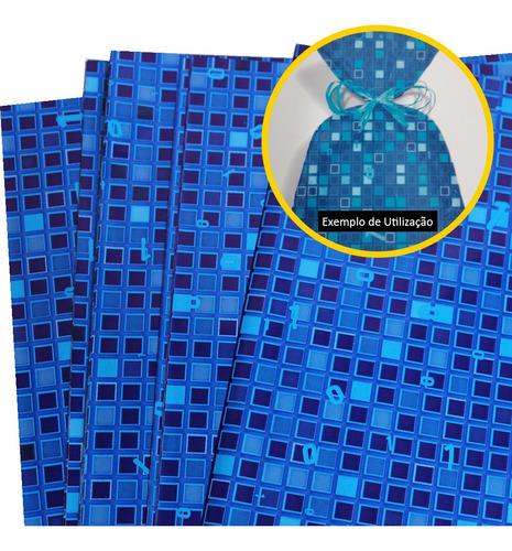 Sacos Para Presente Embrulhos 25x35 Estampados Bytes Com 50