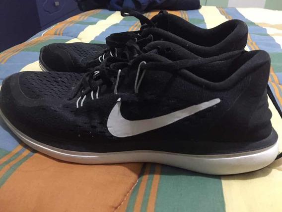 Zapatillas Nike Negras Con Blanco Modelo: Flex 2017 Run