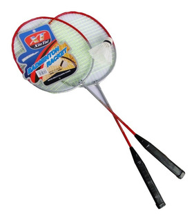 Raqueta De Badminton X2 Con Pelota En Funda