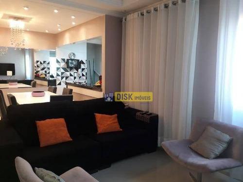 Imagem 1 de 22 de Cobertura Sem Condominio Com 4 Dormitórios, 180 M² - Venda Por R$ 1.017.000 Ou Aluguel Por R$ 7.500/mês - Campestre - Santo André/sp - Co0084
