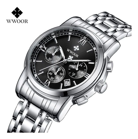 Wwoor Relógio Analógico Masculino Original Executivo