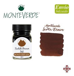 Tinta Para Pluma Fuente. Monteverde 30 Ml. Marrón Escocés.