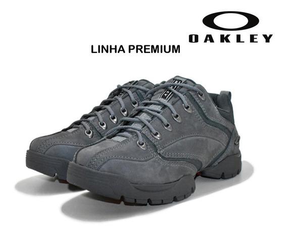 Tênis Couro Oakley Enduro Masculino Rustíco Linha Premium