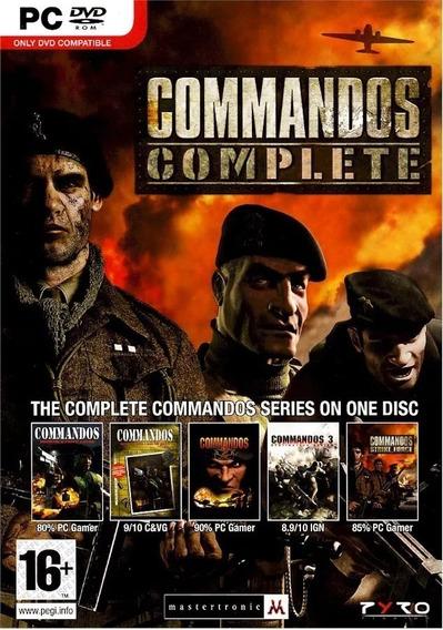 Coleção Commandos 5 Jogos Pc Digital Envio Por Email
