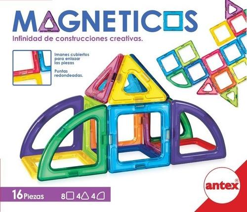 Imagen 1 de 5 de Bloques Magnético Imán Tipo Magnific 16 Piezas Antex Educand