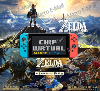 Zelda Breath Of The Wild Nintendo Switch + Dcl+ Chip Virtual