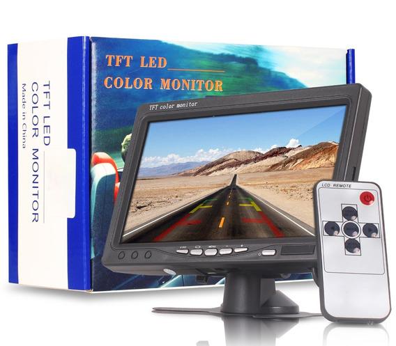 Tela Lcd Automotiva Monitor Auxiliar Paisagem 7 Polegada Nf