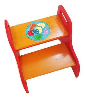 Escalera Banco Multifuncion Infantil Colores Art 35x29x32cm