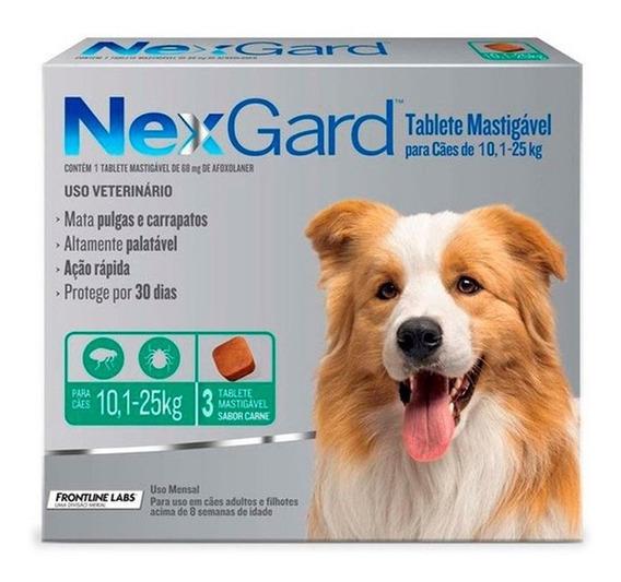 Nexgard 3 Comprimidos Oferta Del Mes 10,1 A 25 Kg Pethome