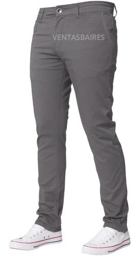 Pantalon De Hombre Corte Intermedio Tipo Chino Gabardina
