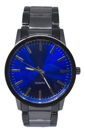 Relógio Maculino Analógico Aço Prata Top Exclusivo