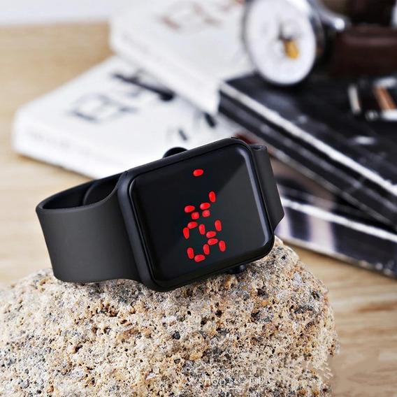 Relógio De Pulso Digital Esportivo Led Unissex Hora Data