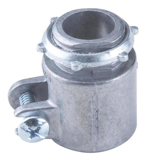 Conector Reto Com Rosca Tramontina 4 Polegadas Alumínio