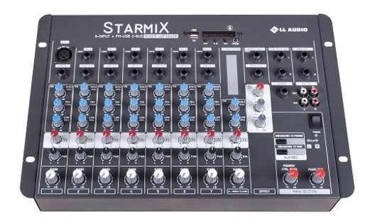 Mesa De Som Bluetooth 8 Canais Starmix Usfx802r Efeito