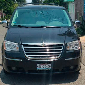 Camioneta Chrysler Town&country 2009 Limited Negra Piel